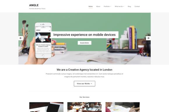 Angle WordPress Portfolio Theme