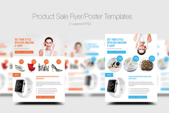 Product Sale Flyer Poster Templates