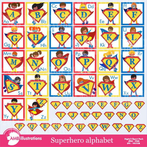 Superhero Alphabet 496