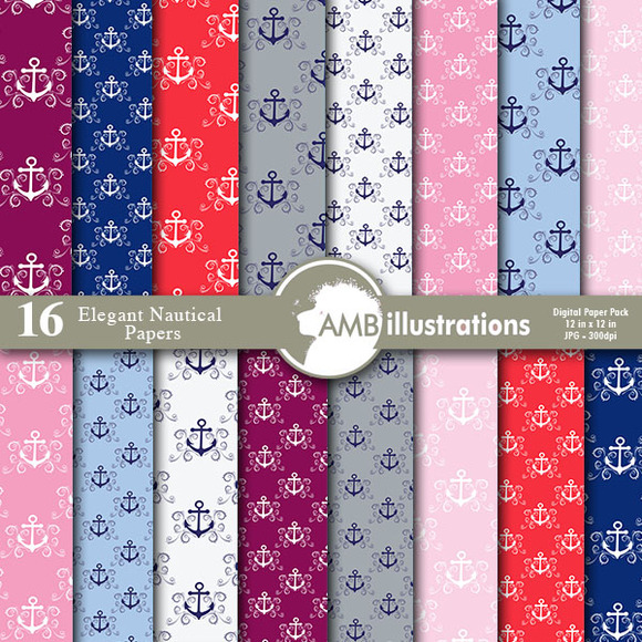 Elegant Nautical Papers 807