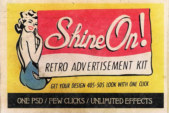 Shine On Retro Advertisement Kit