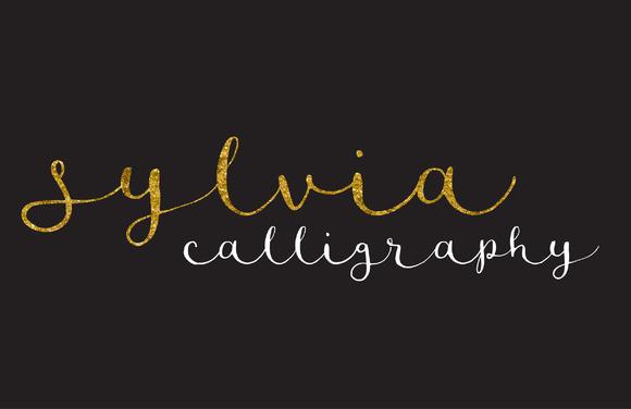 Sylvia Script Lowercase Lettering