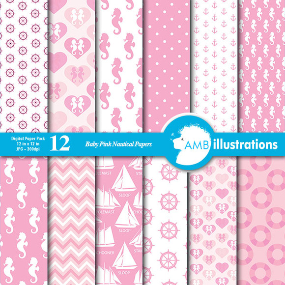 Nautical Pink Papers 188