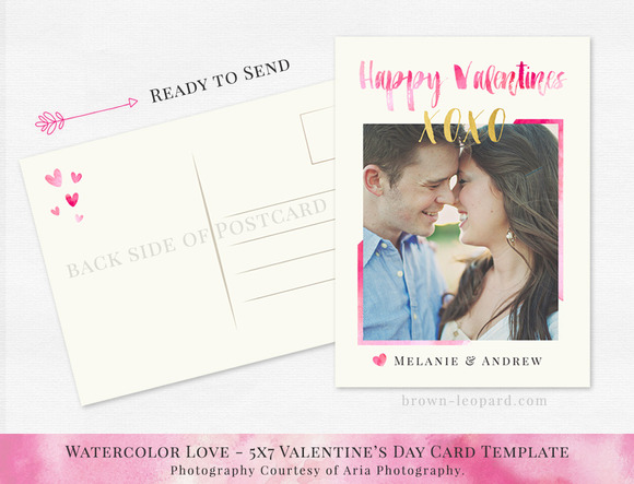Valentine S Day Card Template 5x7