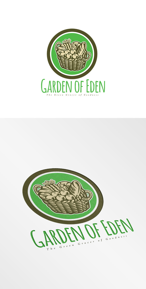 Garden Of Eden Green Grocer Logo