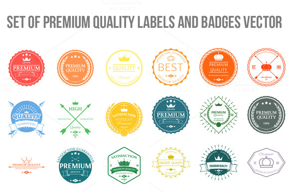 Set Of Premium Quality Labels