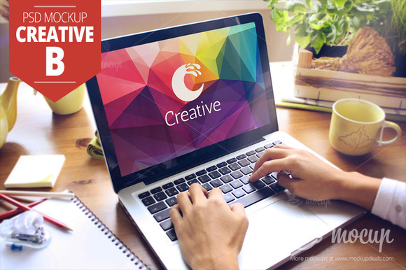 MacBook PSD Mockup Creative B