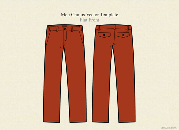 Men Chinos Vector Template