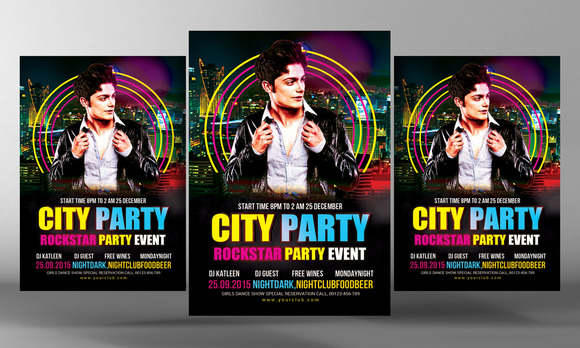 City Life Party Flyer Template
