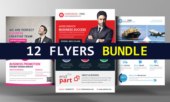 12 Corporate Business Flyers Bundle