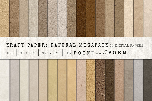 Kraft Paper Texture Pack Neutral