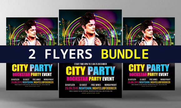 Party Flyers Bundle Templates