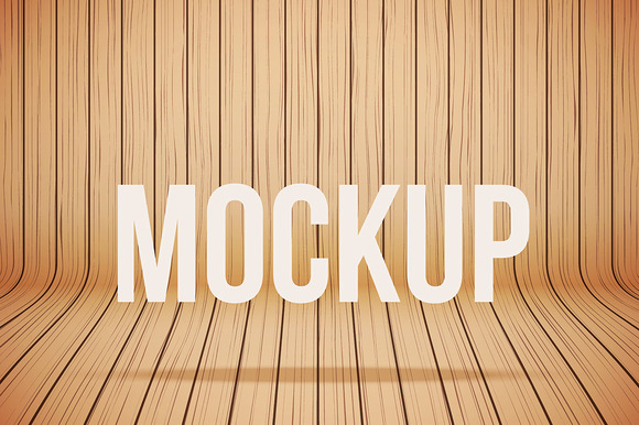 Vector Wood Mockup Background 3