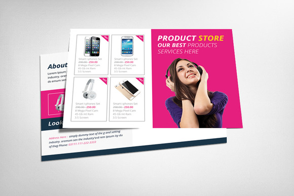 Products Postcard Template