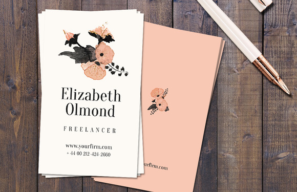 Salmon Pink Business Card