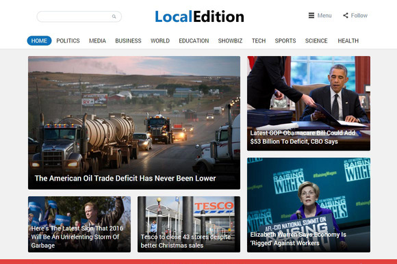 LocalEdition News Magazine Theme