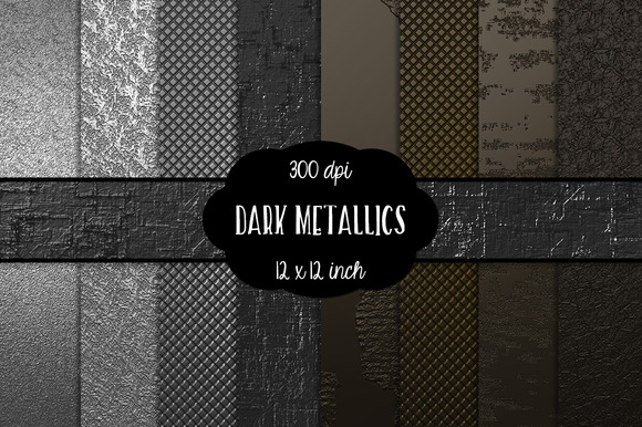 Dark Metallic Digital Paper