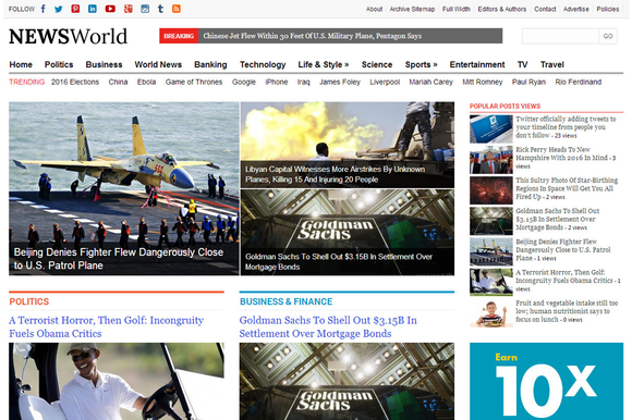 NewsWorld News Magazine Theme