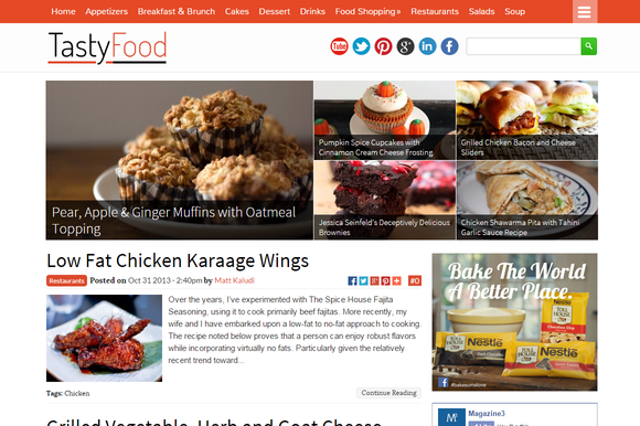 TastyFood Food Blogging Theme