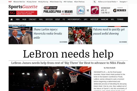 SportsGazette Sports Newspaper Theme