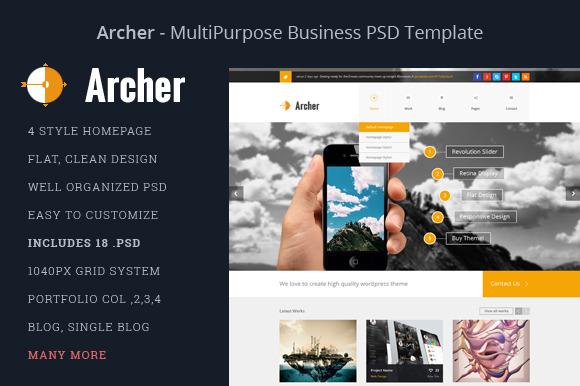 Archer Business PSD Template