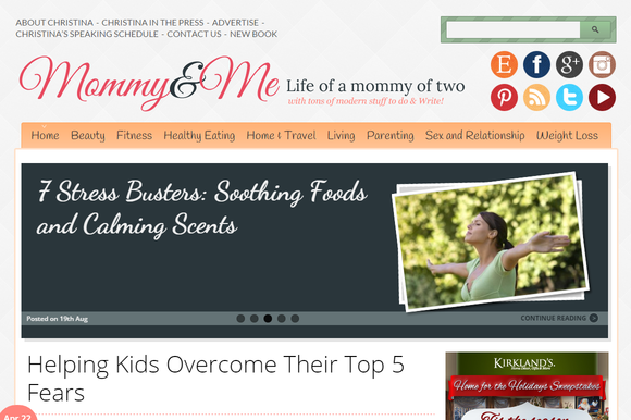 Mommy Me Mom Blogging Theme