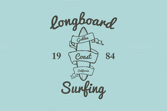 Longboard Surfing Typography T-shirt
