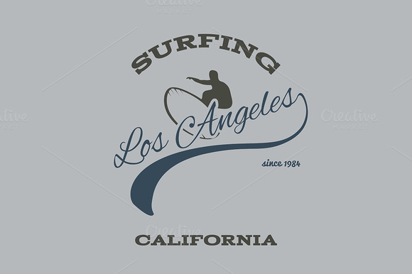 Surfing Typography T-shirt Graphics