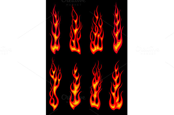 Tribal Red Flames Icons