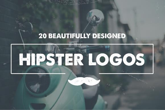 20 Hipster Logo Templates