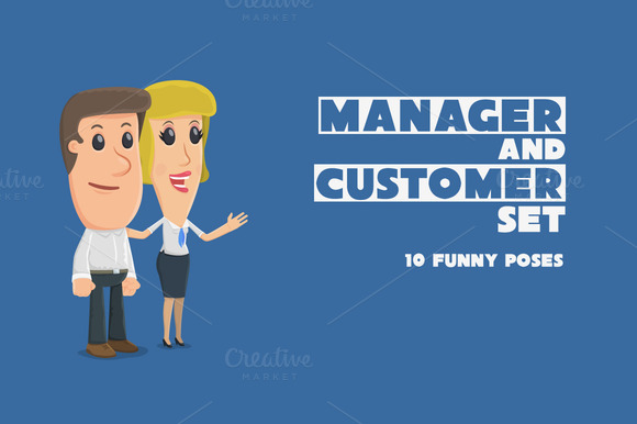Manager And Customer Set