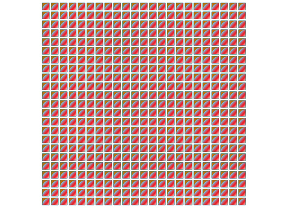 Red Pattern Square