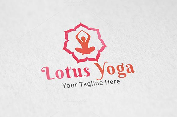 Lotus Yoga Logo Tempalte
