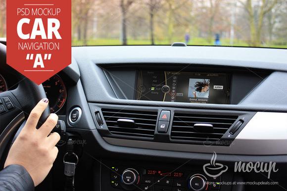 Car Navigation PSD Mockup A
