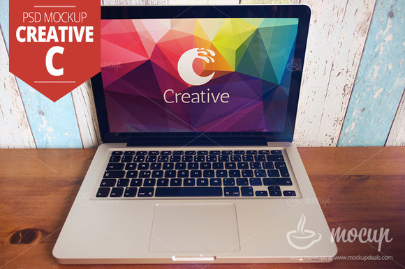 MacBook PSD Mockup Creative C