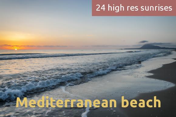 Sunrise On A Mediterranean Beach