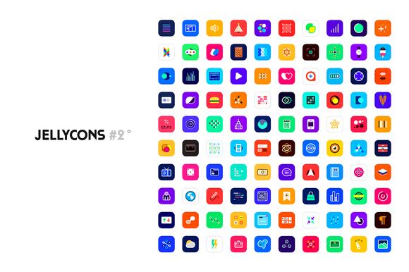Jellycons #2 100 IOS 8 App Icons