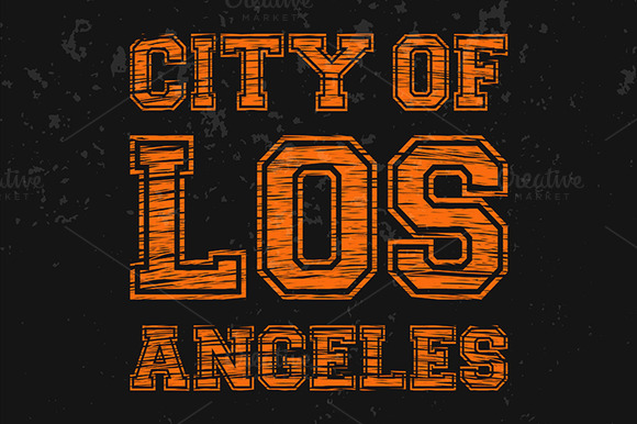 City Of Los Angeles Artwork For Wear