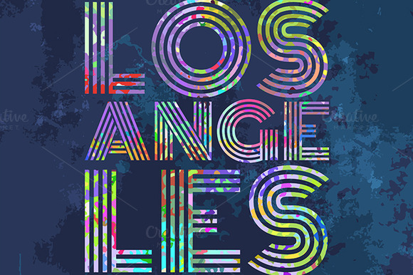 Los Angeles Artwork For Wear