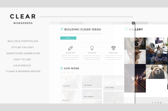 Clear Responsive WordPress Theme