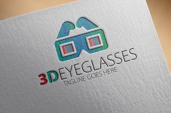 3D Eyeglasses Logo