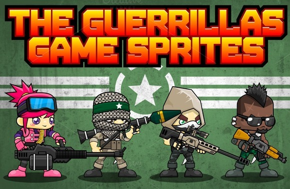 The Guerrillas Game Sprites