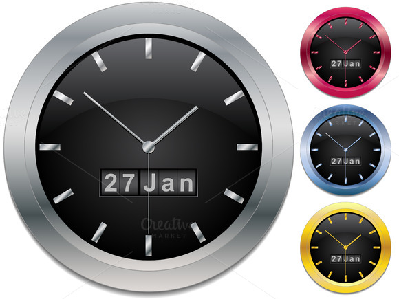 Colored Watches Vector Illustration