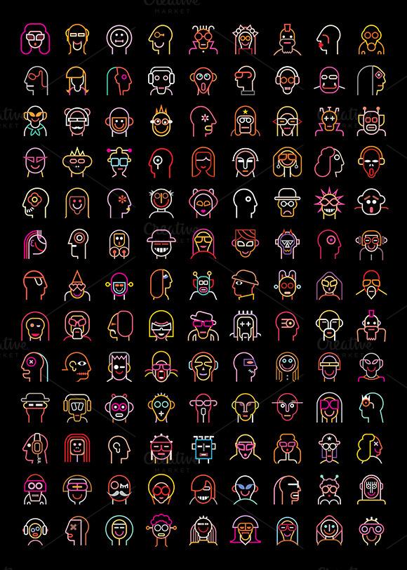 Neon Avatars