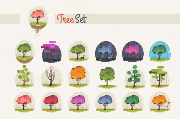 19 X Tree Set