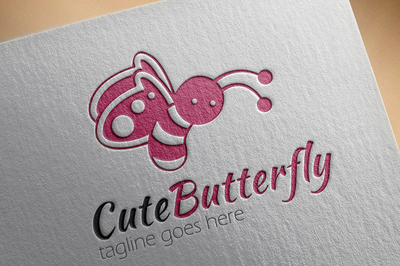 Cute Butterfly Logo