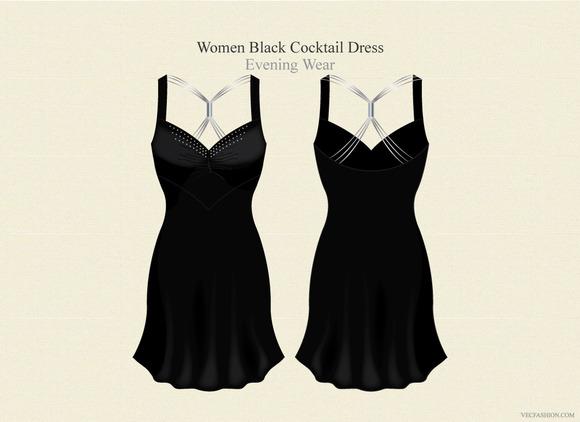 Women Black Cocktail Dress