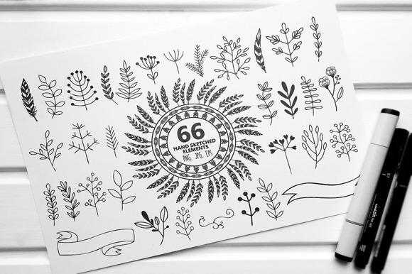 66 Hand Sketched Elements For Design