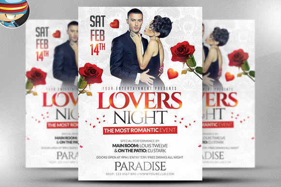 Lover S Night Flyer Template