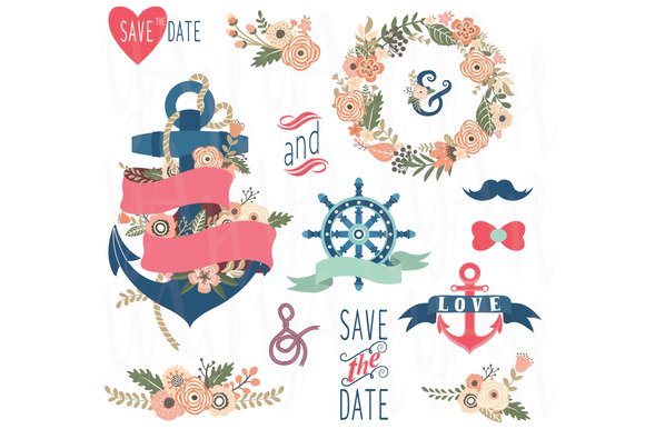 Nautical Flora Wedding Elements